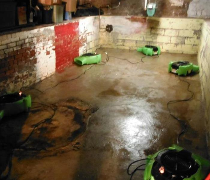 Sewage Backup Clean-up in Tiffin Basement After