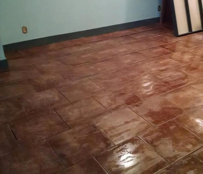 Tile Cleaning From Water Damage in Willard Ohio Home After