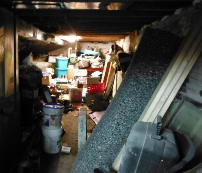 Sewage Backup Clean-up in Tiffin Basement Before